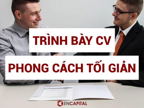 Trình bày CV theo phong cách tối giản
